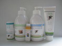 MooGoo reviews of the Skin Milk Udder Cream, Milk Shampoo, Cream Conditioner, Fresh Cream Deodorant and Cowlick Lip Balm.
