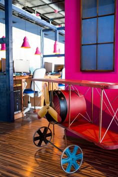 The workshop hosts the new office of a young and fast growing Romanian software company, Softescu in downtown Bacau, Romania Cubicle, Installation Art, Craftsman, Workshop, Interior Design, Architecture, Room, Inspiration, Furniture