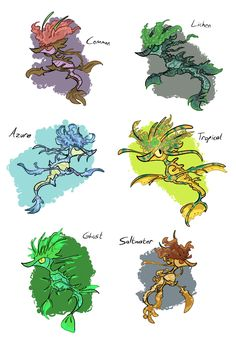 Algae Variations by MeetTheMedicJoy.deviantart.com on @DeviantArt