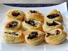 Mushroom & Gruyere Pinwheels: 1 of 25 Recipes for Wonderful Sweet & Savory Thanksgiving Snacks  :: FineCraftGuild.com