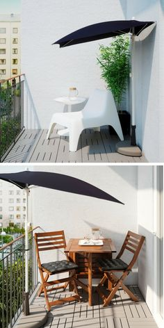 Stunning 108 Low Budget Small Apartment Balcony Ideas Source by luvnecom Apartment Porch, Apartment Balcony Decorating, Apartment Balconies, Balcony Design, Patio Design, Balcony Ideas, Porch Ideas, Patio Ideas, Small Terrace