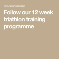 Follow our 12 week triathlon training programme Triathlon Training Program, Training Schedule, Training Programs, Running On Treadmill, Open Water Swimming, Indoor Cycling, Breath In Breath Out, Race Day, Strength Training