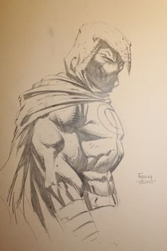 Moon Knight sketch by David Finch Comic Art