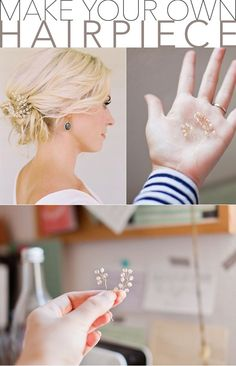 Need a beautiful hairpiece for your wedding? Learn how you can easily make your own DIY wedding hairpiece with our step-by-step tutorial. #diyweddingtutorials #weddinghairstylesforlonghair