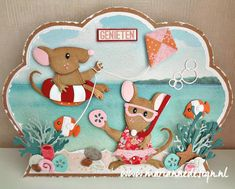 Marianne Design Cards, Felt Pictures, Elizabeth Craft, Christmas Cards, Christmas Ornaments, Kids Cards, Cute Cards, Paper Piecing, Color Themes