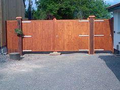 Bespoke Driveway Gates Finished The Wooden Work Bampton Devon Entrance