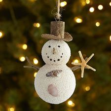 Sandy Snowman Ornament