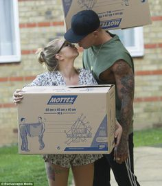Smitten: Any doubts that Love Island couple Olivia Buckland and Alex Bowen's relationship has not recovered from a recent rocky patch were swiftly dispelled on Sunday afternoon