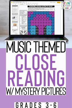 These music themed reading activities come in print and digital form to use during times of distance learning as well as in the classroom! This reading comprehension resource is no prep and is great practice for close reading skills for upper elementary students. Includes 3 Engaging, high interest