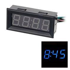 >> Click to Buy << 0.56 Blue LED Clock Voltage Temperature Digital Display Thermometer Voltmeter  Electrical Test Meters Digital Car Volt Gauge #Affiliate