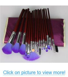 16pc Professional Cosmetic Makeup Make up Brush Brushes Set Kit With Purple Bag Case #16pc #Professional #Cosmetic #Makeup #Make #Brush #Brushes #Set #Kit #Purple #Bag #Case