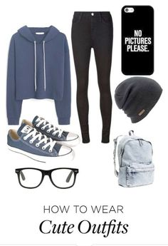 Casual winter school outfits, outfits for school for teens, simple outfits for teens, Legging Outfits, Preppy Outfits, Polyvore Outfits, Lazy Outfits, Simple Outfits For Teens, Outfits For Teens For School, Summer School Outfits, Fall Outfits For School, Teen Fashion