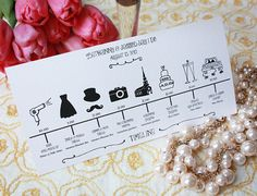 Timeline fiesta de boda para imprimir