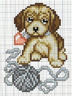 Free Puppy Dog Cross Stitch Chart Pattern