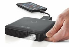 iPhone Projector! (I'm holding out until the there is a self-projecting iPhone!) Wonder what this does to the battery!!
