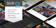 ShiftCV | Blog, Resume, Portfolio Drupal Theme