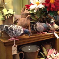 papier mâché pigeons @johnderiancompany