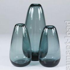 altes Wilhelm Wagenfeld WMF Glas Vasen Konvolut 50er Jahre vintage Set Top & alt