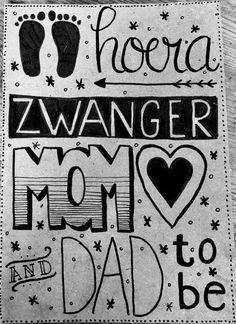 Hoera, Zwanger! | Handlettering Qreations