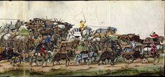 Albrecht Altdorfer (c. 1480 -1538), Hans Burgkmair (1473-1531), Albrecht Dürer (1471-1528) & others — Triumphal Procession, 1517 (1440x638)