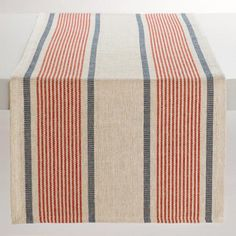 Red and Blue Striped Loire Table Runner - v1