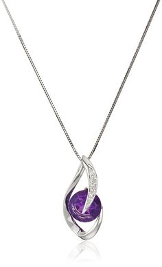 White Gold Amethyst and Diamond Accent Flame Pendant Necklace 18 >>> See this great product. (This is an affiliate link) Women Jewelry, Fashion Jewelry, Black Gold Jewelry, Christmas Gifts For Girlfriend, Necklace For Girlfriend, Girls Necklaces, Jewellery Display, Amethyst, White Gold