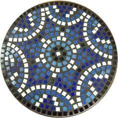 design idea for mosaic stepping stone Wood Mosaic, Stone Mosaic, Mosaic Glass, Stained Glass, Mosaic Mirrors, Glass Art, Mosaic Flower Pots, Mosaic Garden, Mosaic Crafts