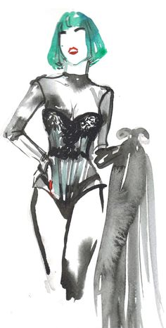 lady gaga watercolor