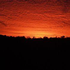 Sunrise in Western MA #sunset #sunrise #sun #pretty #beautiful #sky #skyporn #cloudporn #nature #clouds #horizon  #view #night #morning #silhouette #all_sunsets