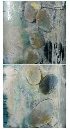 Find on the beach #aviable #canvas #art #artist #painting #Carmen Praast Tirler