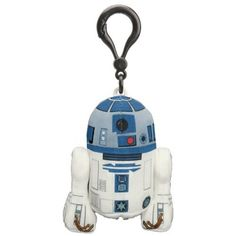 "R2-D2 small, plush clip-on that ""talks"" -- my daughter loves her ""robot"" and the sounds he makes - $9.50"