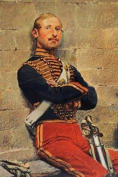 French hussar of the Second Empire, Crimean War Military Art, Military History, Military Fashion, Army Uniform, Military Uniforms, Independence War, Military Costumes, Crimean War, Tsar Nicholas
