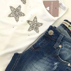 Jeans con glitter!!! ❤️ Finalmente sono arrivati!!!  Spediamo in tutta Italia!!✉ Per informazioni contattateci qui o su whatsapp al numero 333.1422451.