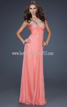 Floor Length Elegant Chiffon Pink Long Prom Dresses 2013 Sale [Pink Floor Length Long Prom Dresses] - $170.00 : Discount Dresses for Prom 2013,Up 50% Off