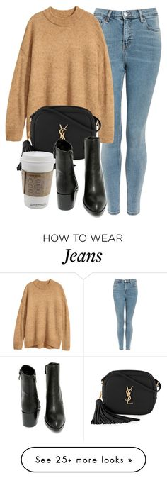 """Untitled #7072"" by laurenmboot on Polyvore featuring Topshop, Yves Saint Laurent and Very Volatile"
