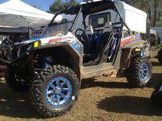 "Voodoo Blue Positive Octanes with Bullet Edge with ""Bad Dawg"" engraved in spoke Voodoo Blue, Bullet, Monster Trucks, Wheels, Vehicles, Bullets, Cars, Vehicle"