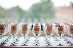 Wine Themed Wedding Favors. Maybe wine glasses instead of mason jars?