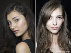 Minimal makeup. | Rebecca Minkoff Spring 2015 | Pinned from honestlywtf