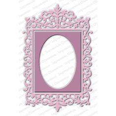 Ellen Hutson LLC - Impression Obsession Dies, Ornate Rectangle Frame, $25.00 (http://www.ellenhutson.com/impression-obsession-dies-ornate-rectangle-frame/)