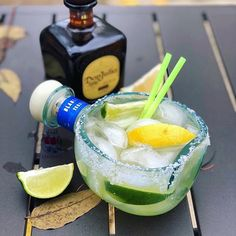 Todays #margaritaoftheday is from @alkol.iq awesome recipe below: . The Don Don Margarita by @six8bartend  How about a couples cocktail! The Don Don Margarita  is a margarita for you and bae but are you willing to share is the question . Thank you @forbesfactory for this awesome glassware  . . TAG WHO YOURE SHARING WITH   . .  3 oz. each of @donjuliotequila silver & anejo 2 1/2 oz. @cointreau Noir  1 oz. simple syrup  1 whole pressed lime  Lemon lime slices  Salt rim . . . #mixology… National Margarita Day, Tipsy Bartender, Lemon Slice, Cocktails, Cocktail Drinks, Simple Syrup, Lime Juice, Fun Drinks, Cinco De Mayo
