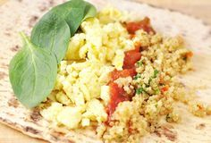 Quinoa Egg Breakfast Wrap