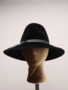 9cbb37ac8d172 Felt Large Bonnet Fedora by Portland Oregon Milliner Dayna Pinkham. Custom  Hats