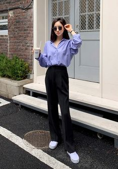 Not That Basic Silky Shirt - I know you wanna kiss me. Thank you for visiting CHUU. Korean Girl Fashion, Korean Fashion Trends, Ulzzang Fashion, Korea Fashion, Asian Fashion, India Fashion, Fashion 2018, Korean Outfit Street Styles, Korean Outfits