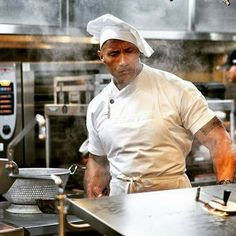 The Rock is cooking!