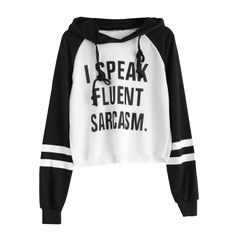 Letter Regular Fashion Text Print Cropped Pullover Hoodie – Cropped – Ideas of Cropped - Fashion Cropped Pullover, Crop Top Hoodie, Pullover Hoodie, Crop Shirt, T Shirt, Sweatshirt Outfit, White Hooded Sweatshirt, White Hoodie, Cute Sweatshirts