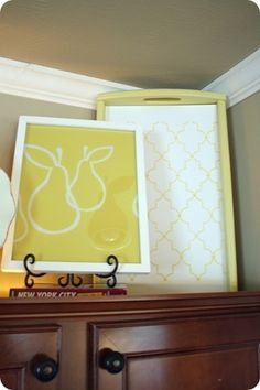 Decorating above kitchen cabinets with flowers for What kind of paint to use on kitchen cabinets for framed monogram wall art