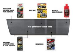 A 2014 article from Consumer Reports considers the best exterior car trim cleaners and Wipe New stands out among the rest.