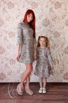 "Комплект Мама+дочка ""Совушки"". Хлопок 100%, цвет: мультиколор. #фэмилилукстильст #familylook #фэмилилук #одеждадлямамыидочи #дочка #молодаямама #одинаковаяодежда #парнаяодежда #любимаядоча #доченька #family #sisters #mother #kids #happy #child #fun #baby #instababy #girl #dress"