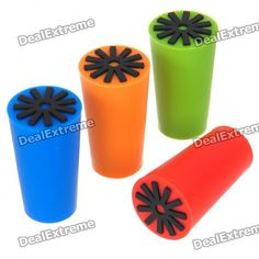 Silicone Wine Bottle Stoppers - Color Assorted (4-Piece Pack)