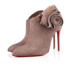 Chaussure Louboutin Pas Cher MRS BABA Veau Velours 100mm TaupeArgent0 #shoesforwomen